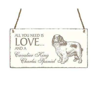 SCHILD Dekoschild « All you need is LOVE and a CAVALIER KING CHARLES SPANIEL »