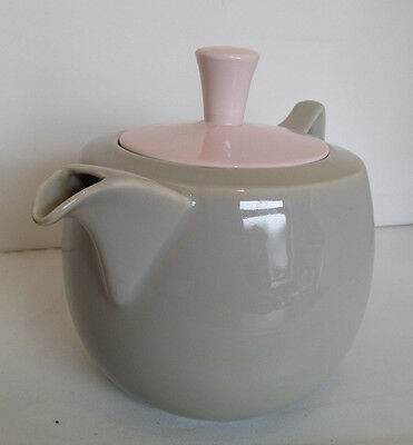 Branksome China, Elephant Grey and Blossom Pink Large Teapot