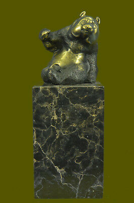 Art Deco Chinese Panda Vienna Hot Cast Animal Bronze Sculpture Book End Statue