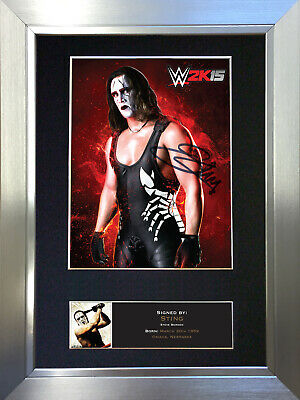 STING Steve Borden WWE Signed Autograph Mounted Photo Repro A4 Print no498