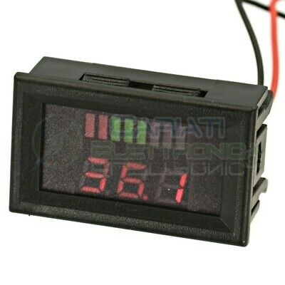 INDICATORE DI CARICA VOLTMETRO Display led per batterie al piombo 36V