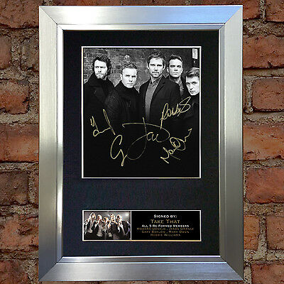 TAKE THAT With Robbie Signed Autograph Mounted Photo Repro A4 Print TT03 no117