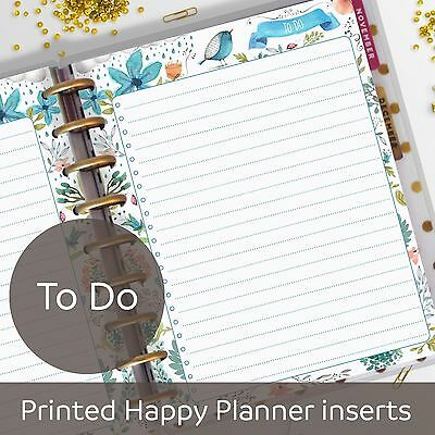 To Do List, To-Do, Checkbox, Checklist inserts for Classic MAMBI Happy Planner