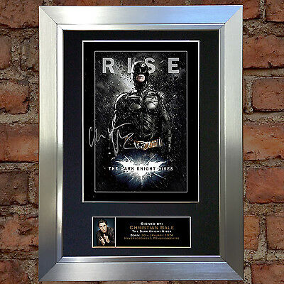 CHRISTIAN BALE Dark Night Rises Signed Autograph Mounted Repro Photo A4 105