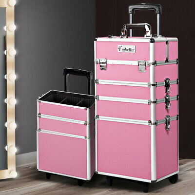 7 in 1 Portable Cosmetic Trolley - Pink