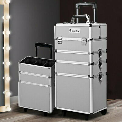 7 in 1 Portable Cosmetic Trolley - Silver