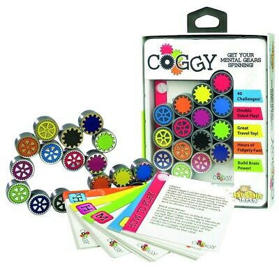 Fat Brain Toys Coggy Folding Clicking Puzzle Gears Toy and Game