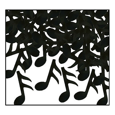 1 oz Black MUSIC NOTES CONFETTI Recital Dance Birthday Party Decorations