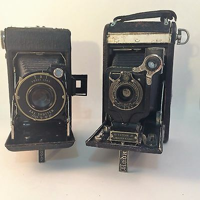 Kodak No. 1 Autographic Kodak Jr. CND & Vigilant Junior Six-20 Bellows Cameras 2