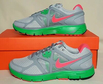 buy online de148 676d4 Nike Lunarglide +3 Womens 454315 063 New Box Grey Green Pink