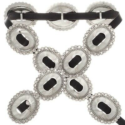 First Phase Navajo Silver Concho Belt