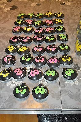Vintage Halloween Blow Mold String Light Covers Lot Of 37 Spooky Eyes