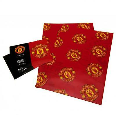 Manchester United FC Gift Wrap Paper - (Official Merchandise)