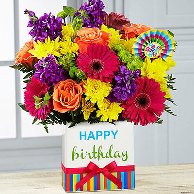 FTD Birthday Brights Bouquet-Fresh Flower Delivery by Florist