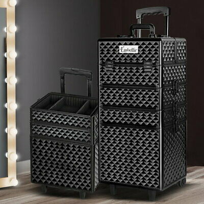 7 in 1 Portable Cosmetic Trolley - Diamond Black