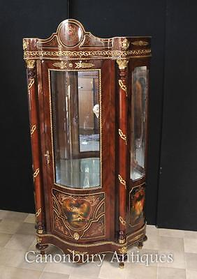 French Louis XVI Display Cabinet Bijouterie Painted Cabinets