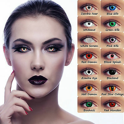 Halloween Scary Zombie Contact Lenses Lentilles Lenti Crazy Monster Costume