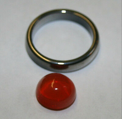 Natural loose Mexican Fire Opal gemstone 4ct cabochon 11mm bullet gem opl08
