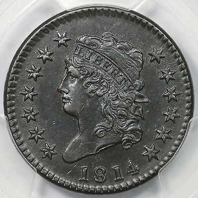 1814 S-294 PCGS AU 55 Crosslet 4 Classic Head Large Cent Coin 1c