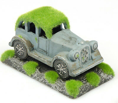 Fish Tank Ornament - Moss covered Retro Car - Vintage Look - Cave