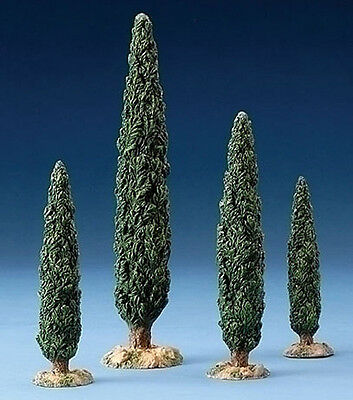 "Fontanini Nativity - 5"" Scale - Cypress Trees - Set Of Four"