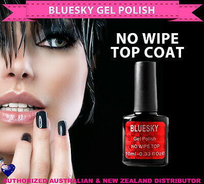 Bluesky Soak Off UV/LED Gel Polish NO WIPE TOP COAT 10ml -needs nail lamp