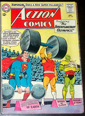 ACTION COMICS #304 (VG+) SUPERMAN! 1963 DC 1st Appearance of the BLACK FLAME!