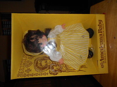 EG Doll Yellow Dress Eegee Goldberger Vintage 70's Americana Baby In  Box