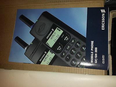 Vintage Ericsson GH388 GSM Mobile Phone Excellent Mint complete Made in Sweden