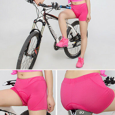 Women Cycling Underwear Gel 3D Padded Bike Bicycle Riding Shorts Pants S-XXXL