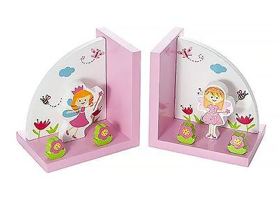 Mousehouse Little Angel Wooden Children's Bookends Girls Nursery Bedroom