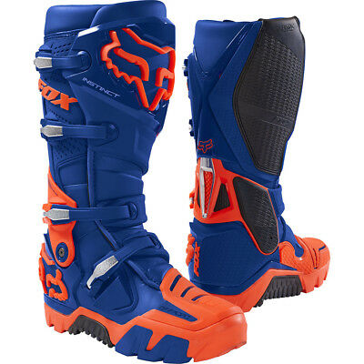 NEW Fox Racing 2018 Instinct Blue Orange Adventure Enduro Riding Offroad Boots