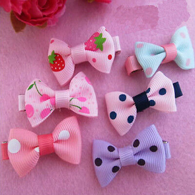 10Pcs Girl Baby Kid Child Hair Accessories Bowknot Mini Clips Slides for Party