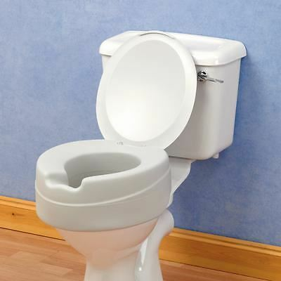 Comfyfoam Raised Toilet Seat With Lid Foam Seat Comfort Soft Toileting Aid