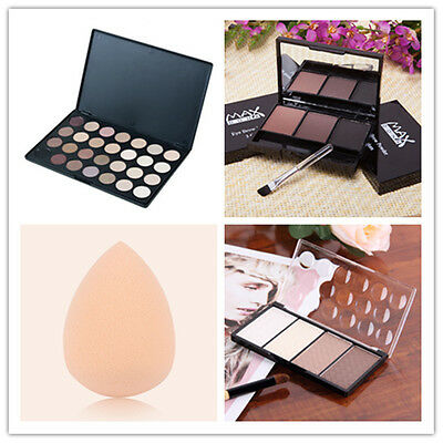 NEW 4 in 1 Four Color Contour Shading Pressed Powder Highlight Make-up Cosmetic