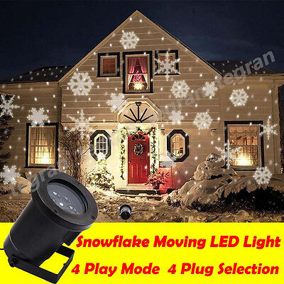 Star Light SNOWFLAKES Shower Laser LED Motion Projector Outdoor Christmas Garden