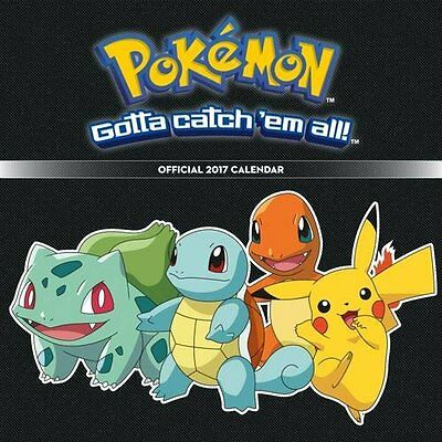Pokemon 2017 Official Calendar Calender Pikachu Charmander Bulbasaur Reality Go