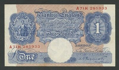 BANK OF ENGLAND - Peppiatt (Blue) £1 WWII - Good Very Fine  ( Banknotes )