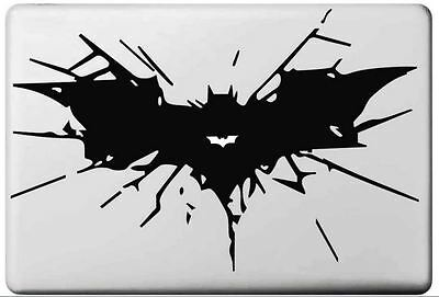 Black Batman bat vinyl sticker for Mac Book/Air/Retina laptop decal