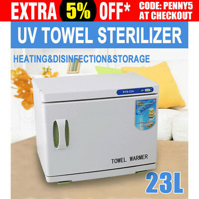 23L UV Towel Sterilizer Warmer Cabinet Disinfection Heater Hot Hotel Salon Spa