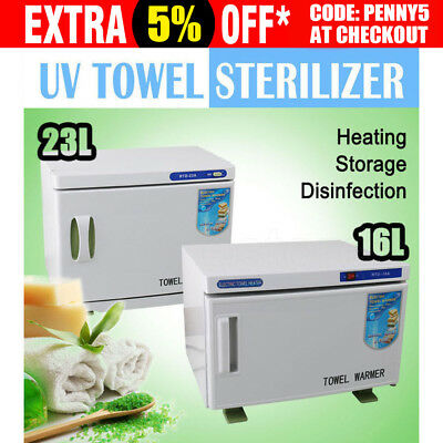 UV Towel Sterilizer Warmer Cabinet Disinfection Heater Hot Hotel Salon Spa 16/23
