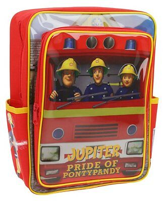 Boys Fireman Sam Jupiter Large Novelty School Nursery Backpack