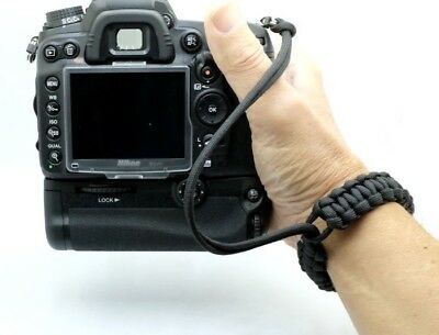 "The ""Cordy Classic Pro"" Paracord Camera Wrist Strap - Handmade by Cordweaver"