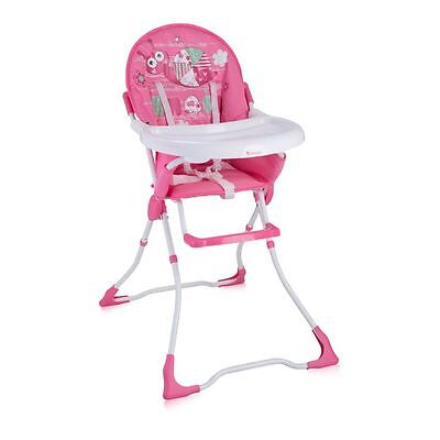 Lorelli Baby Feeding High Chair Seat Pink Snail Foldable Child Infant Girls
