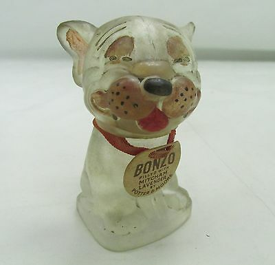 ANTIQUE BONZO GEORGE STUDDY COMIC BULLDOG SCENT PERFUME BOTTLE 1930s VINTAGE DOG