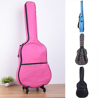 Acoustic Guitar Hard Case Padded Waterproof 4/4 Electric Guitar Case Bag 3/4 New