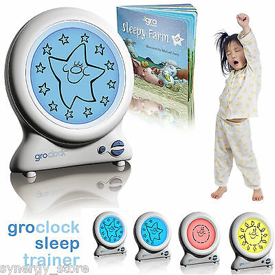 Gro-Clock KIDS SLEEPING CLOCK Sleep Trainer Children Toddler Bedroom Night Clock