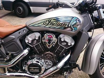 Indian Scout & Sixty Traditional Warbonnet Tank Decal sticker head headdress