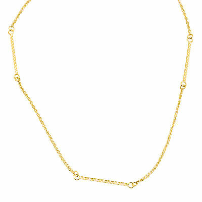 Just Gold Bar Station Necklace in 14K Gold