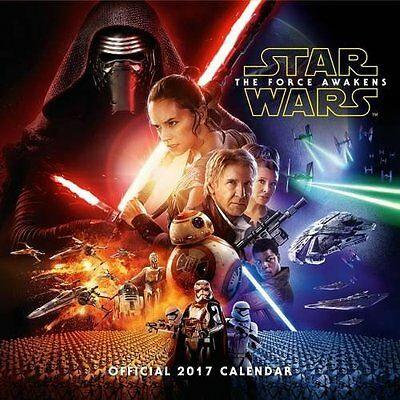 Star Wars Episode 7 Force Awakens Movie 2017 Official Calendar Calender Luke